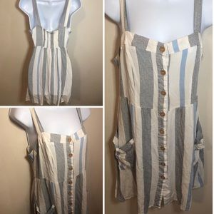 Cotton On striped dress with pockets